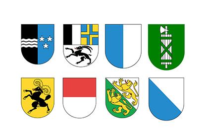 Gemeinden in 8 Kantone
